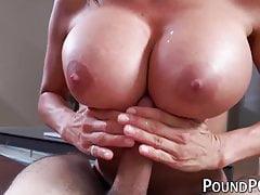 Bubble Butt MILF Alexis Fawx Slammed After Sucking In POV