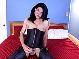 Stephanie leather and corset