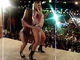 Lesbian dancers public kiss