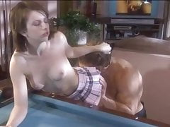 Lexi, the Boss' Daughter, gets a good fuck and facial
