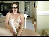 Chubby GF addicted to masturbation and her wand