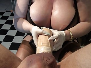 Bdsm Femdom Pov vid: Huge strapon, dildo with extreme outgrowthes, big boobs