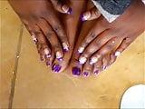 Gina Purple Toenails