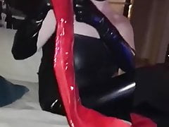 Red Spandex Overknees