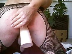 Anus dripping and stretching with rectum filling toys