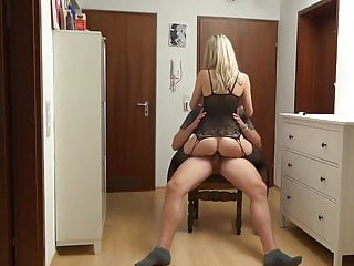 German Pov Blowjob video: Horny MILF Loves Deepthroat Blowjob & Anal Sex with Neighbor