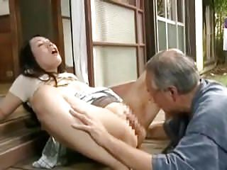 Japanese Cheating video: Japanese drama - Father in law and wife
