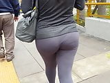 Rich Teen In Tight Leggins Walking