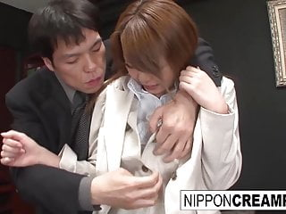 Hardcore Asian Japanese video: Asian office hottie gets gangbanged by her colleagues