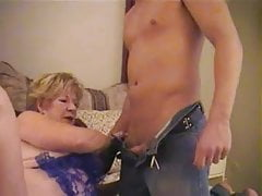 Diane Richards and a young guy