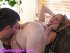Horny Blonde MILF Fingered Eaten & Fucked By Mature Friend