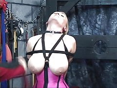 Lillith gets nipple torture with dom pinching and collar around her neck