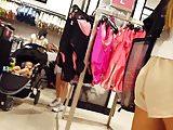 Candid voyeur petite teen lingerie shopping