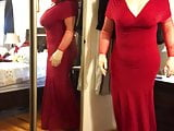 Deanna CD Doll in evening dress showing off her new body