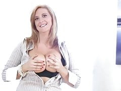 Busty office milf gets off when she gets home