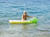 my wife at beach