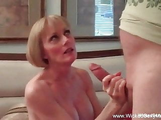 Blowjob Big Tits video: How About A 3some Granny?