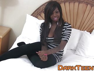Porno video: Cum eating ebony teen fucks for the first time on camera