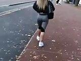 Badunkadonk big ass(Manchester uni) Nike leggings Candid
