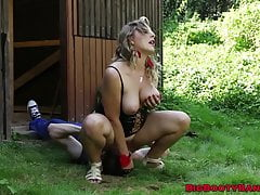 Big Rump Cougar Takes Jizm On Her Face After Providing A Blowjob