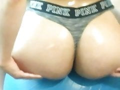 Redbone jiggle ass cheeks ball thong oiled booty wife