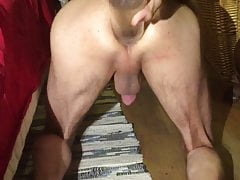 Shy4now put large Bottle Full inside his anal | Porn-Update.com