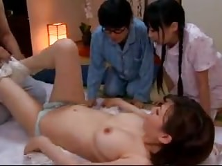 Oldyoung Japanese video: Sex education