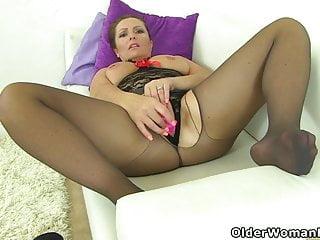Stockings Striptease Milf video: An older woman means fun part 208