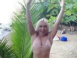 Lindsey Vonn in a bikini.