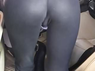 Porno video: Car wash see thru yoga pantans lil booty