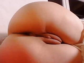.Brunette pale nice round ass spanking chubby cameltoe.