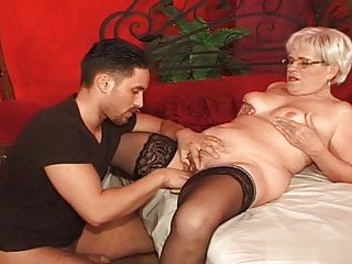 Pornstar Mature Skinny video: Without a young stallion Granny Ibolya has a very large bed