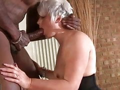 Short hair mature interracial
