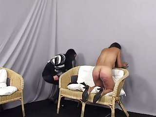 Caning Casting - Monica Matos and Monika