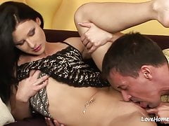 Sensual beauty is fingering herself during intercourse.mp4
