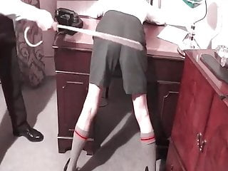 Two school boys caned by headmaster in his study