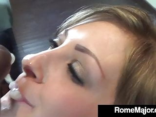 Blonde Small Tits Blowjob video: Young Student Jayla Diamond Gets Slammed By BBC Rome Major!