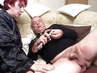 Handjobs Grannies Fingering video: Older on the couch Part 1