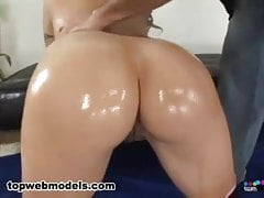 Big Boobs Oiled Babe Fucked Hard
