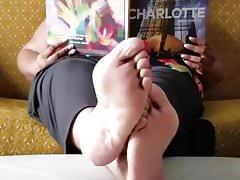 Bbw hebanowe stopy relaksujące