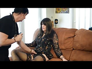 Stockings Shemale Bareback Shemale video: Tranny with her boyfriend