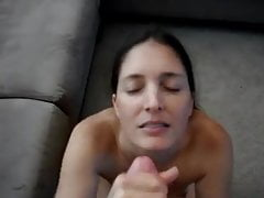 Brunette EX Facialized - POV
