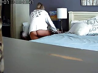 Sex Toys Hidden Cams Voyeur video: Caught mom on her bed with a vibrator in her bedroom.