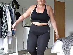 BBW Cameltoe in Yoga Pants szybki ruch