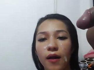 Milf Webcam Pregnant video: Anjelica Cums On face