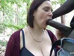 Berlin Street Call Girl Prompt Pulverize Outdoor In Park By Gigantic Black