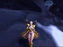 bionda elfa in armatura