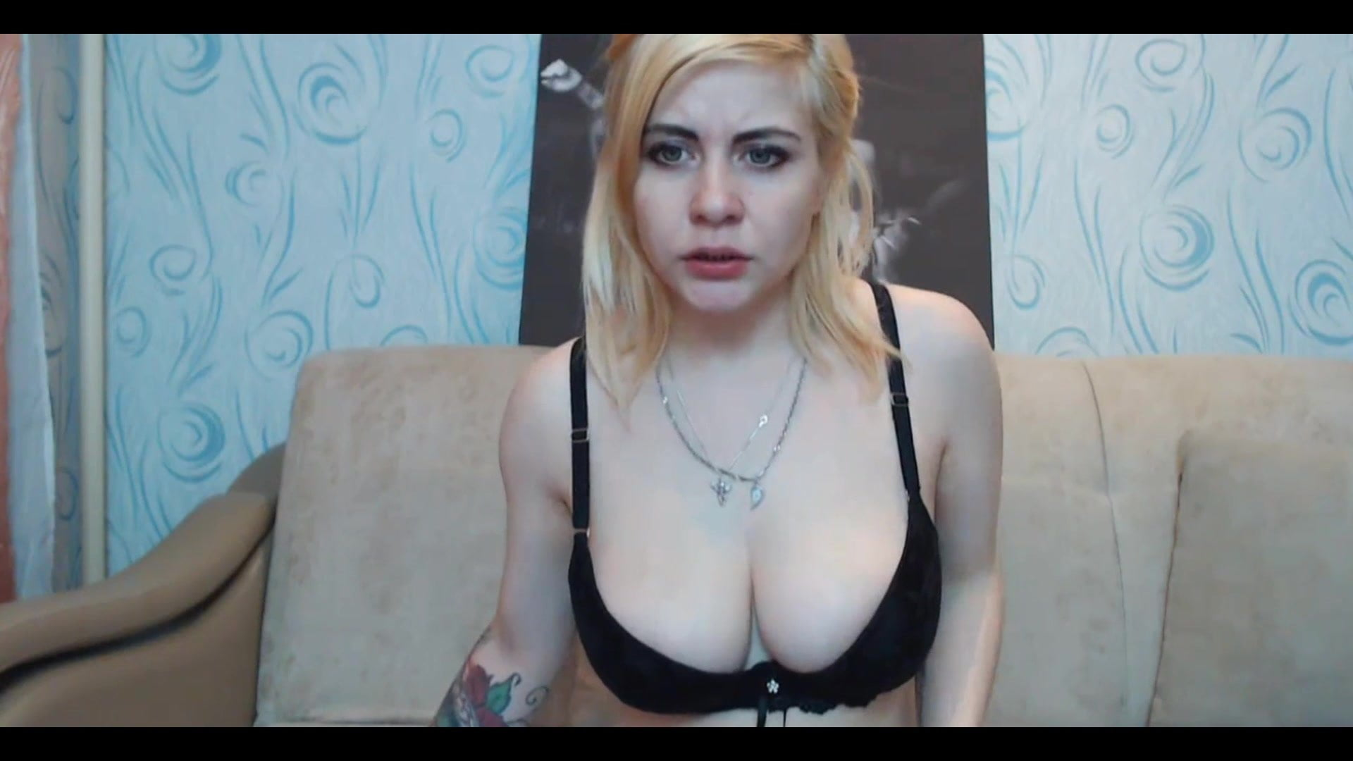 .Blonde Chick With Nice Tits Fucking Her Pussy.