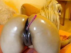 Große fette dunkle Pussylips