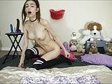 Cute Girl Playing Anal Beads